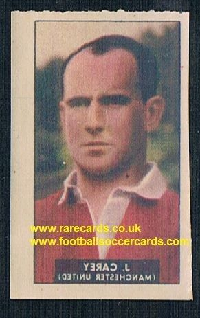 1948 Barratt WHC transfer decal Johnny Carey Man Utd