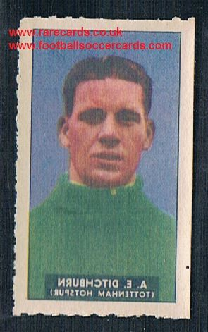 1948 Barratt WHC transfer decal Spurs goalie Ted Ditchburn