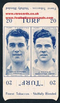 1948 Carerras packet 2 Man U Arsenal