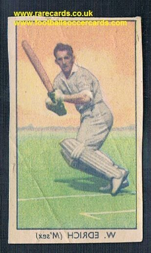 1949 Barratt Napro transfer decal Bill Edrich Middx CCC cricket