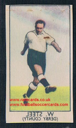 1949 Barratt Napro transfer decal Billy Steel Derby County