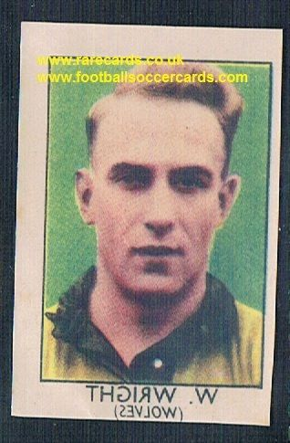 1949 Barratt Napro transfer decal Billy Wright Wolves