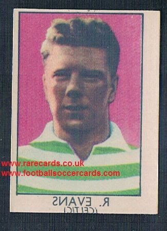 1949 Barratt Napro transfer decal Bobby Evans Celtic
