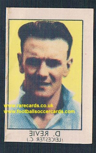 1949 Barratt Napro transfer decal Don Revie Leicester City Leeds United