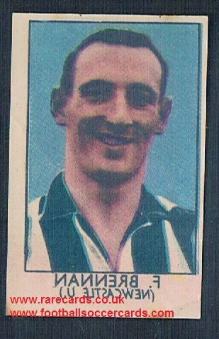 1949 Barratt Napro transfer decal Frank brennan newcastle United
