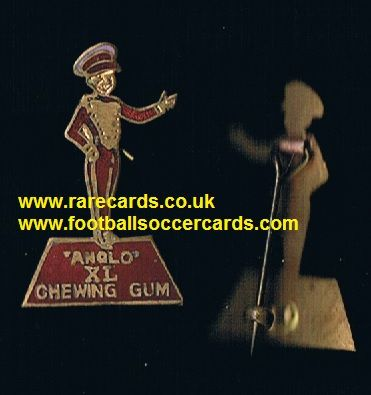 1950's Anglo American Chewing gum Bellboy enamel metal badge XL Halifax