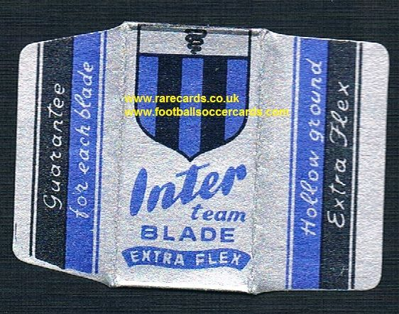 1950's Inter razor blade wrapper and original blade!