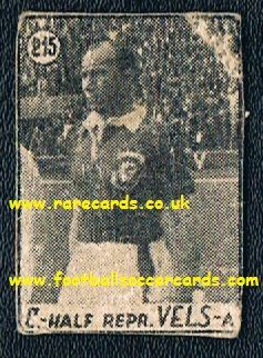 1950's Wales Burgess Spurs Croatian card