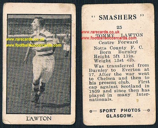 1950 Smashers Tommy Lawton Burnley Everton Chelsea Notts County