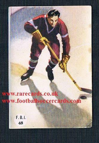 1950s Spanish FBI 48 ice hockey trade card sticker