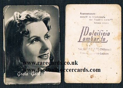 1952 Perfetti DL Greta Garbo Italian trade card