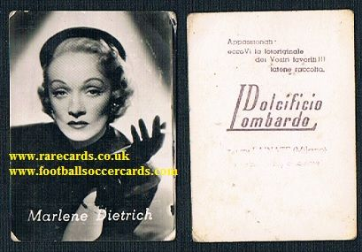1952 Perfetti DL Marlene Dietrich trade card