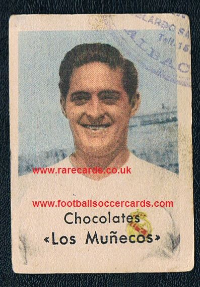 1954 Héctor Rial first Real Madrid card