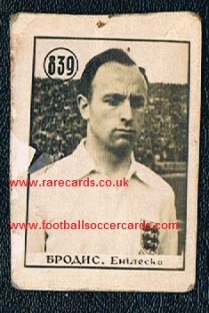 1954 WC54 Ivor Broadis NUFC Yugo card