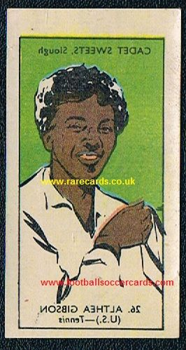 1956 Cadet decal Althea Gibson tennis 26