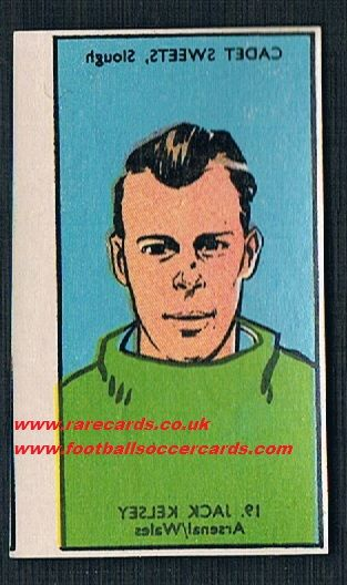 1958 Cadet transfer Jack Kelsey Arsenal and Wales, unused as new