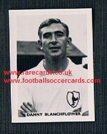 1958 Colinville Footer Foto Gum card International Football Stars Danny Blanchflower Spurs