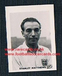1958 Colinville Footer Foto Gum card Stan Matthews England Blackpool Stoke