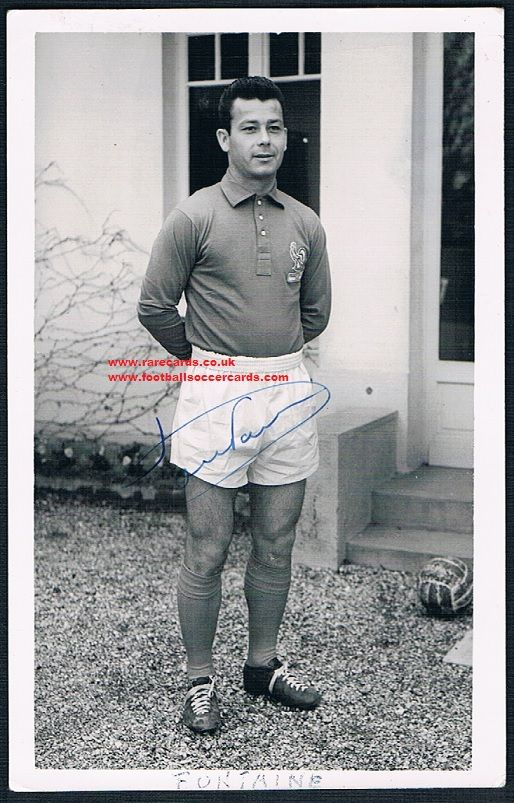 1958 Just Fontaine signed card