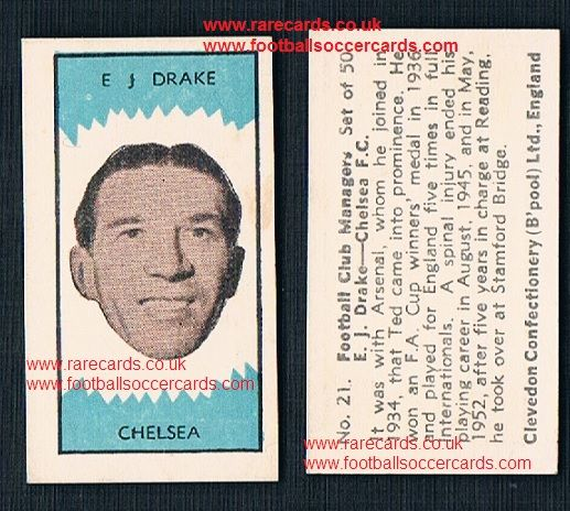 1959 Clevedon football club managers 21 Ted Drake Arsenal Chelsea Reading