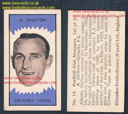 1959 Clevedon football club managers Allenby Chiltons #14 Sunderland Man Utd Grimsby Town