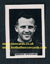 1959 Colinville Footer Foto Gum card International Football Stars Uprichard Southend Pompey