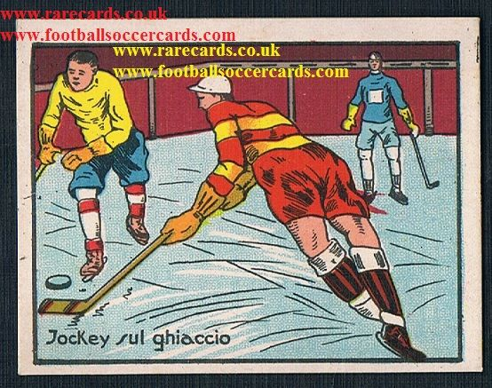 1960s Italian gum card plain back Ice Hockey Jockey sul ghiaccio