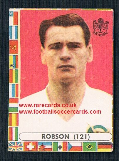 1960s Italian Lampo gum card Bobby Robson  Ipswich Town WBA Barca England WC62