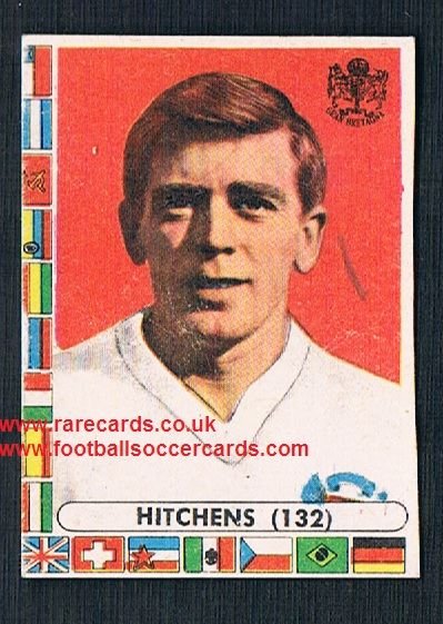 1960s Italian Lampo gum card Gerry Hitchens Cardiff Villa Worcester Inter Torino England