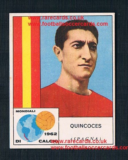1960s Italian Mira WC62 gum card Quincoces ESPANA Spain