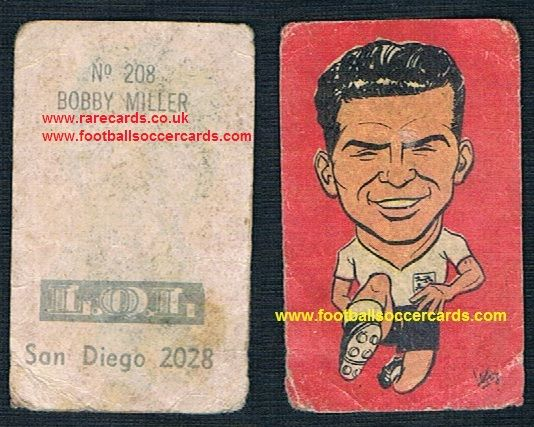 1962 Brian Miller BURNLEY as a putative England player at WC62 made in Chile
