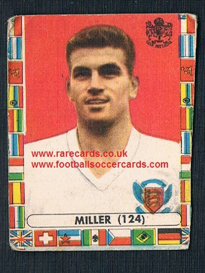 1962 Brian Miller Burnley England international gum card by Lampo