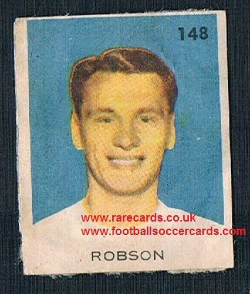 1962 England WC62 Chile issue sticker Bobby Robson WBA England Ipswich Town Barca Fulham PSV