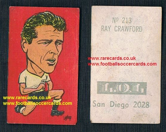1962 England WC62 Chile-only issue Ray Crawford Ipswich Pompey Wolves WBA Colchester