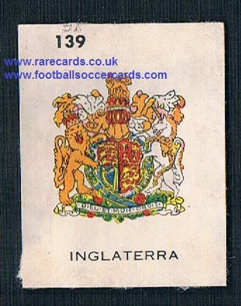 1962 England WC62 Chile-only issue sticker England coat of arms 139 amr
