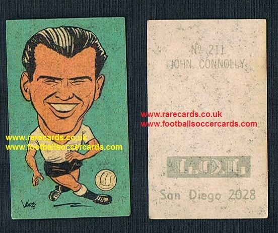 1962 England WC62 Chile-only issue sticker John Connelly Man Utd Burnley Bury Blackburn
