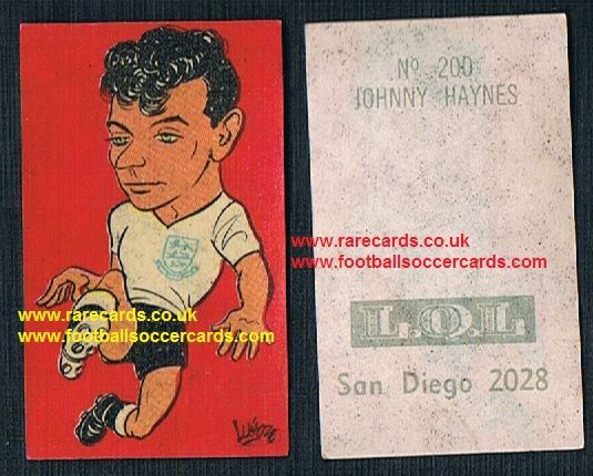 1962 England WC62 Chile-only issue sticker Johnny Haynes Fulham England