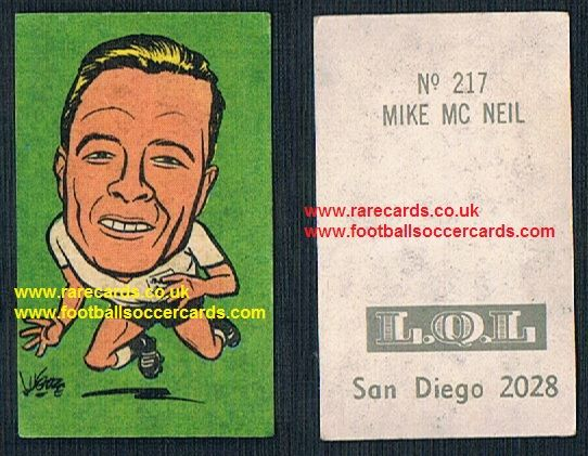 1962 England WC62 Chile-only issue sticker Michael Mick McNeil Middlesbrough Ipswich England