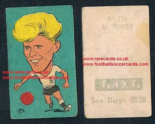 1962 England WC62 Chile-only issue sticker Ray Pointer Burnley Bury Pompey Coventry