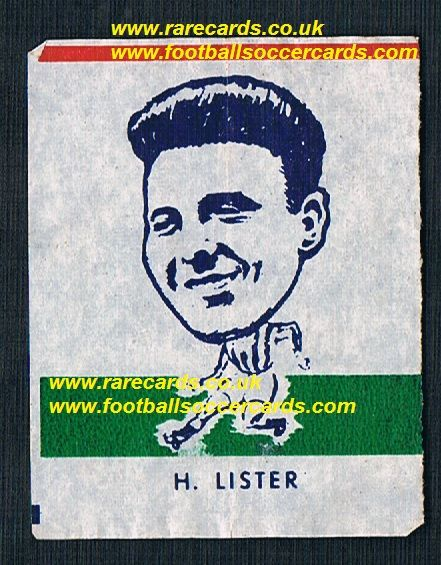 1962 Webcosa H Lister Oldham Athletic  original wax paper gum insert