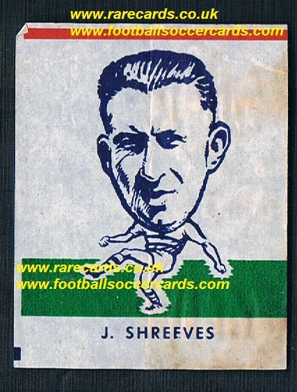 1962 Webcosa J.Shreeves Reading FC original wax paper gum insert