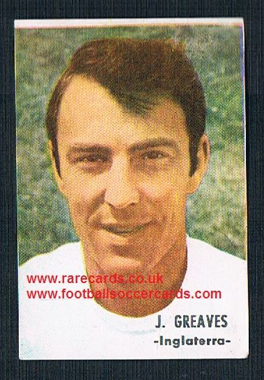 1966 SPAIN nrMINT 1966 Jimmy Greaves Spurs England Chelsea WHU FHER FKS football sticker
