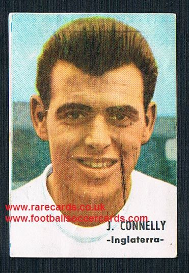 1966 Spanish Fher John Connelly Burnley Bury BR Man Utd England