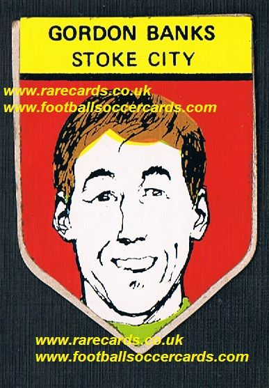 1968 BAB unused PVC sticker Gordon Banks Stoke City with backing paper