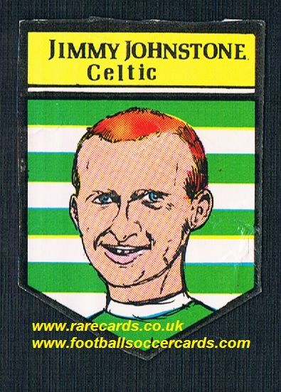 1969 BAB Northern Trancessories PVC sticker Celtic Jimmy Johnstone with backing paper