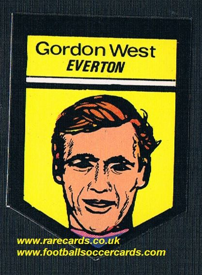 1969 BAB Northern Trancessories PVC sticker Everton  Gordon West with backing paper