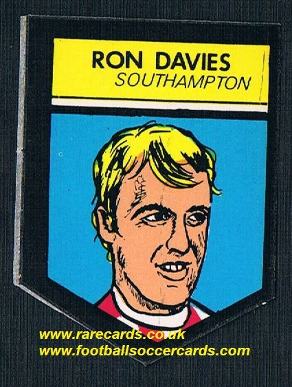 1969 BAB Northern Trancessories PVC sticker Ron Davies Saints with backing paper