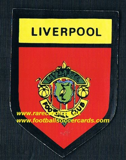 1969 BAB PVC sticker Liverpool round shield with backing paper