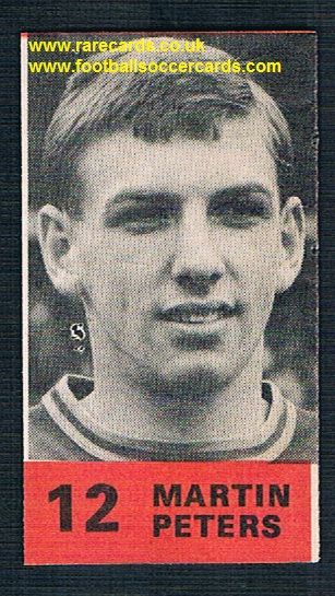 1970 British packet cut-out Martin Peters 12 red base
