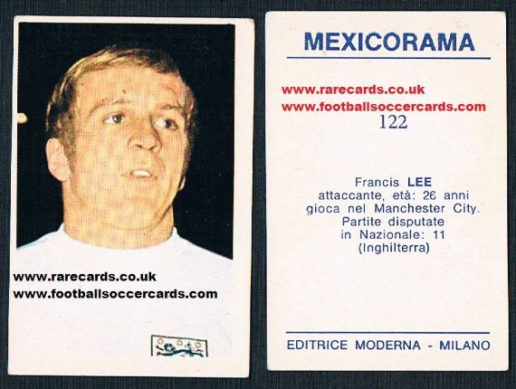 MANCHESTER CITY FRANCIS LEE A/&BC-FOOTBALL CARD GAME-#11